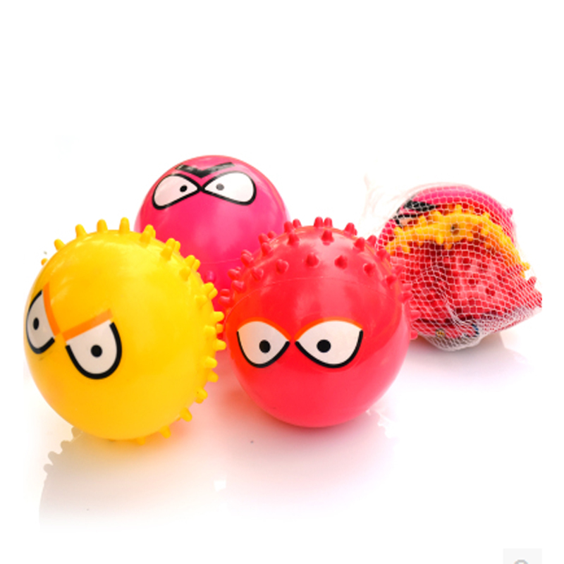 3pcs Small PVC Expression Ball Massage Ball toys Children Pat Ball Out Door Sport Inflatable Toys Emoji Face Squeeze Balls