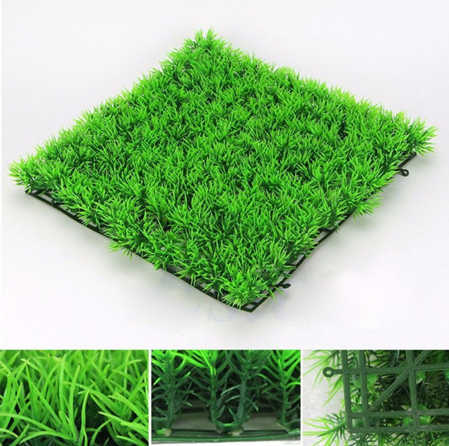 Eco Friendly Aquarium Ornaments Artificial Water Plastic Green Grass Plant Lawn Aquatic Fish Tank