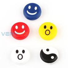 2 Pack/10pcs Silicone Rubber Tennis Racquet Vibration Dampener Shock Absorber Happy Face