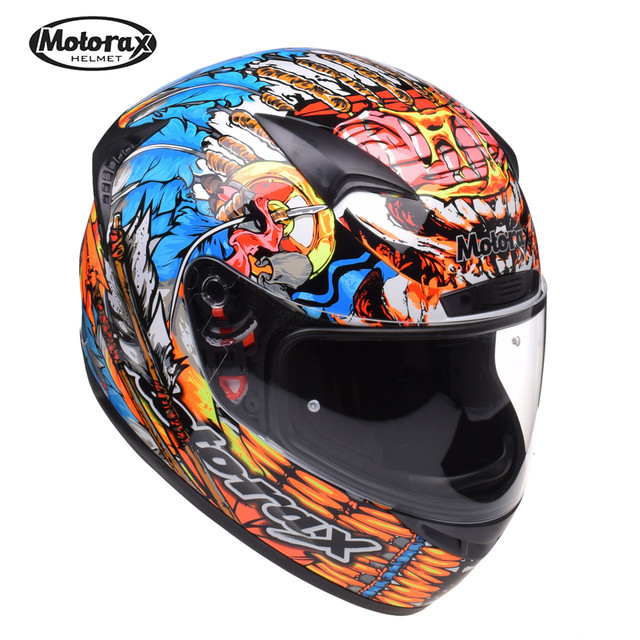 Motorax Tr30 Indian Racing Motorcycle Helmet Full Face Capacete
