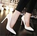 Clásicos zapatos de tacón rojos únicos de las mujeres Ladys sexy stiletto tacones Altos zapatos de Fiesta de san valentín mujer bombea el Tamaño 35-41