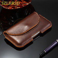 SZLHRSD For Xiaomi Mi Max 3 max 2 mix 2S Redmi 6A Case Genuine Leather Holster Belt Clip Pouch Funda Cover Waist Bag Phone cover