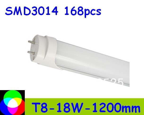 factory price 18W T8 LED Tube 1200mm Light 18W SMD3014 168pcs Warm White/Cool White 1800lm PC Cover Free shipping 50pcs