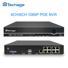 Techage 8CH 4CH 1080P 48V POE NVR CCTV System Kit XMEYE 802.3af P2P ONVIF Network Video Recorder Full HD 2.0MP for POE IP Camera