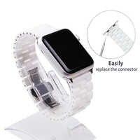 Keramik Armband 44mm für Apple Uhr 38mm 42mm Smart Uhr Band Link Strap Armband Keramik Links Armband für iWatch 40mm
