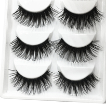 5 Pairs Of Eyelashes Eye Makeup 3D Long Fake Artificial Set Black