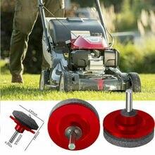 HOT Lawn Mower Sharpener Lawnmower Blade Sharpener For Power Hand Drill Garden Tool