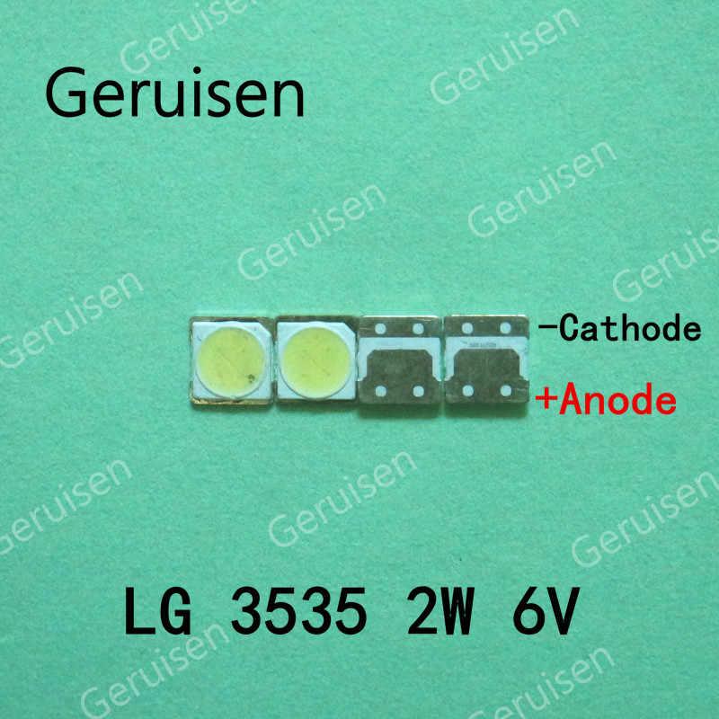 200 قطعة لإصلاح تلفاز lcd LG led tv شريط إضاءة خلفي أضواء مع صمام ثنائي الباعث للضوء 3535 SMD LED الخرز 6 فولت LG 2 واط
