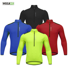 WOSAWE Autumn Cycling Jersey Long Sleeve Men MTB Road Bike Wear Maillot Ciclismo High Ventilation Shirt Tops