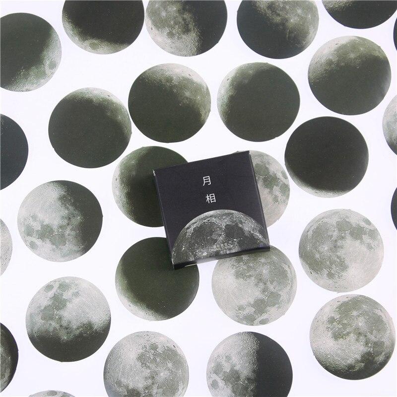 Chic Novelty Kawai Stationery 45 Pcs/box Moon Style Mini Paper Decoration Diy Scrapbook Notebook Album Seal Sticker Girl Sticker lexington studios 24018g its a girl mini album