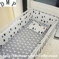 Комплект из 6 предметов: Детская кроватка berço protetor de berco  Комплект постельного белья для детской кроватки с рисунком (4 бампера + лист + наволоч...