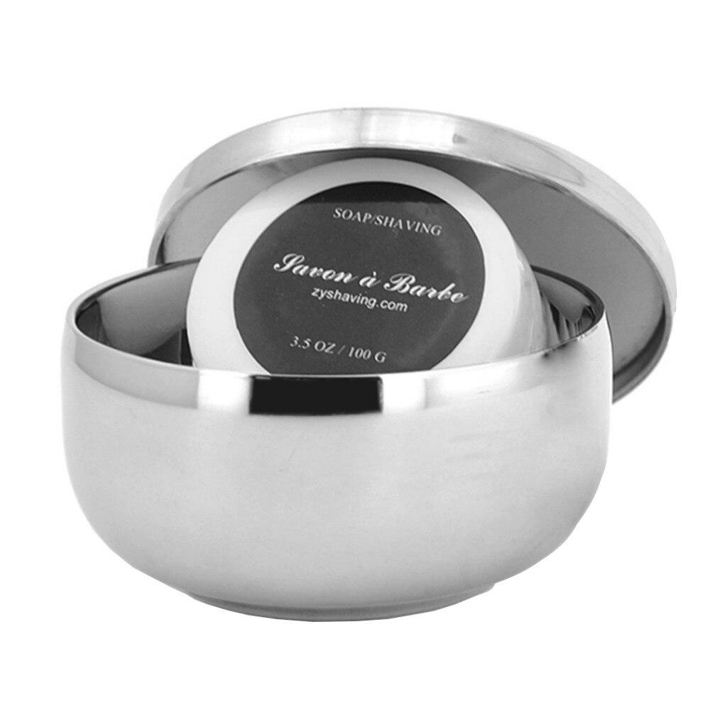 Grandslam 2in1 Stainless Steel Shaving Bowl With Lid Wet Shaving Soap Mug + Goat Milk Shave Soap For Man Barber Straight Razor
