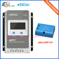 Wifi eBOX MPPT Solar Tracking 10A controller EPEVER Tracer1206AN 12V battery charger work Max PV input 60V Epsolar EP series