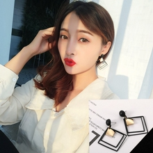 Hot Style Crystal Earrings Korean Temperament Long Pendant Personality with Simple Large Wholesale