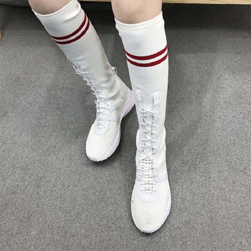 Zapatos fsj01 Moda Ecuestre 39 Tejido Altas Fsj02 Cuero Vaca Fsj Botas Elástico De Equitación 2019 Genuino Mujer Verano Tamaño Rodilla t1Rqn6Hgw