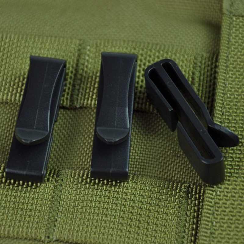 10 шт., прищепка для ремня, тактическая пряжка для ремня