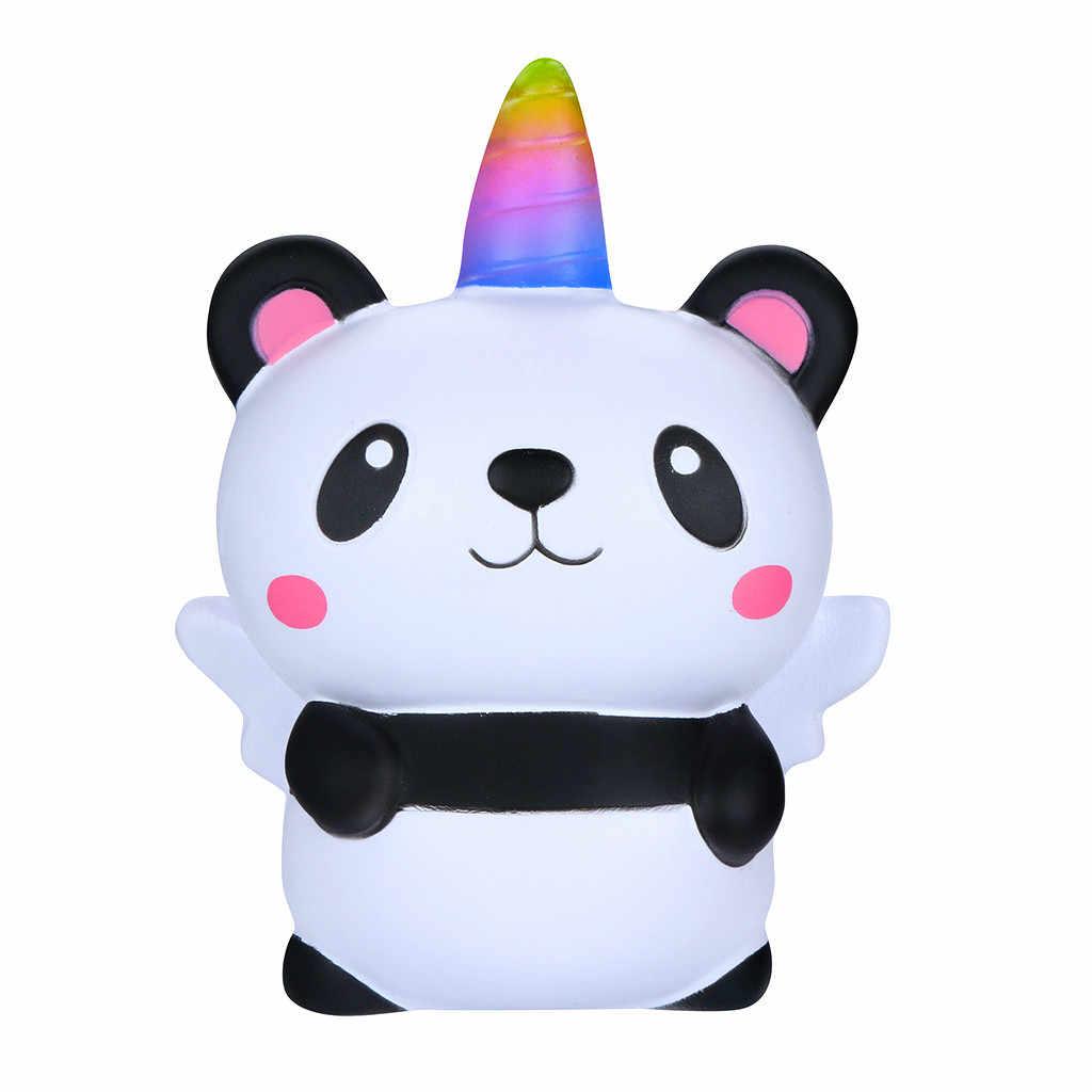Kawaii การ์ตูน Panda Angel ช้า Rising Squishies ของเล่น Squishes ของเล่นสำหรับบรรเทาความเครียดเด็กของเล่นบีบ Novelty 4.6