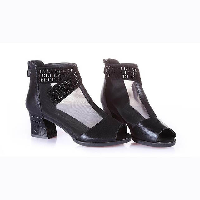 402a072b282 placeholder Women s Boots Comfort Cowhide Casual Comfort Chunky Heel  Fashion Boots Women s Block Heel Ankle Shoes Gold