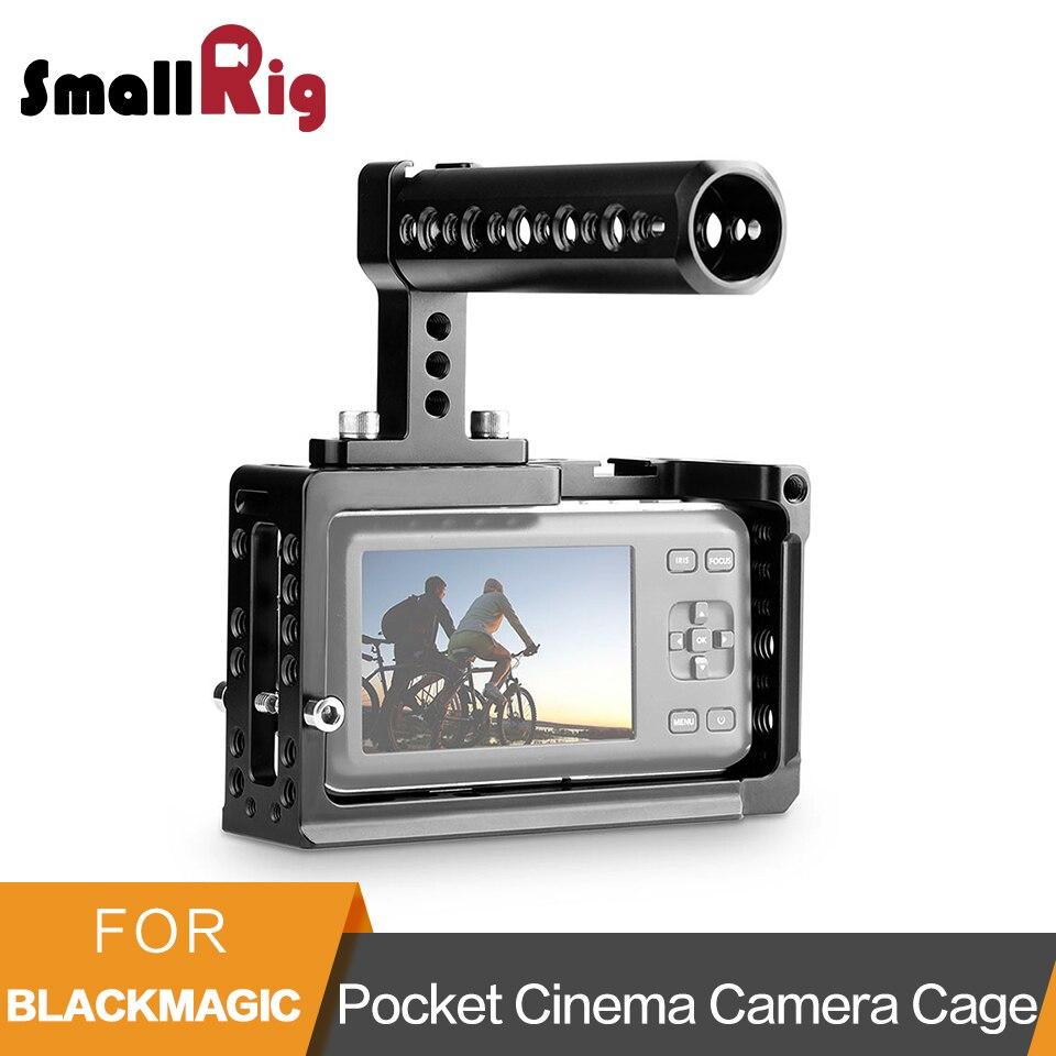 SmallRig Caméra Cage Kit pour BMPCC Blackmagic Pocket Cinema Caméra Cage Avec Fromage Top Poignée-1991