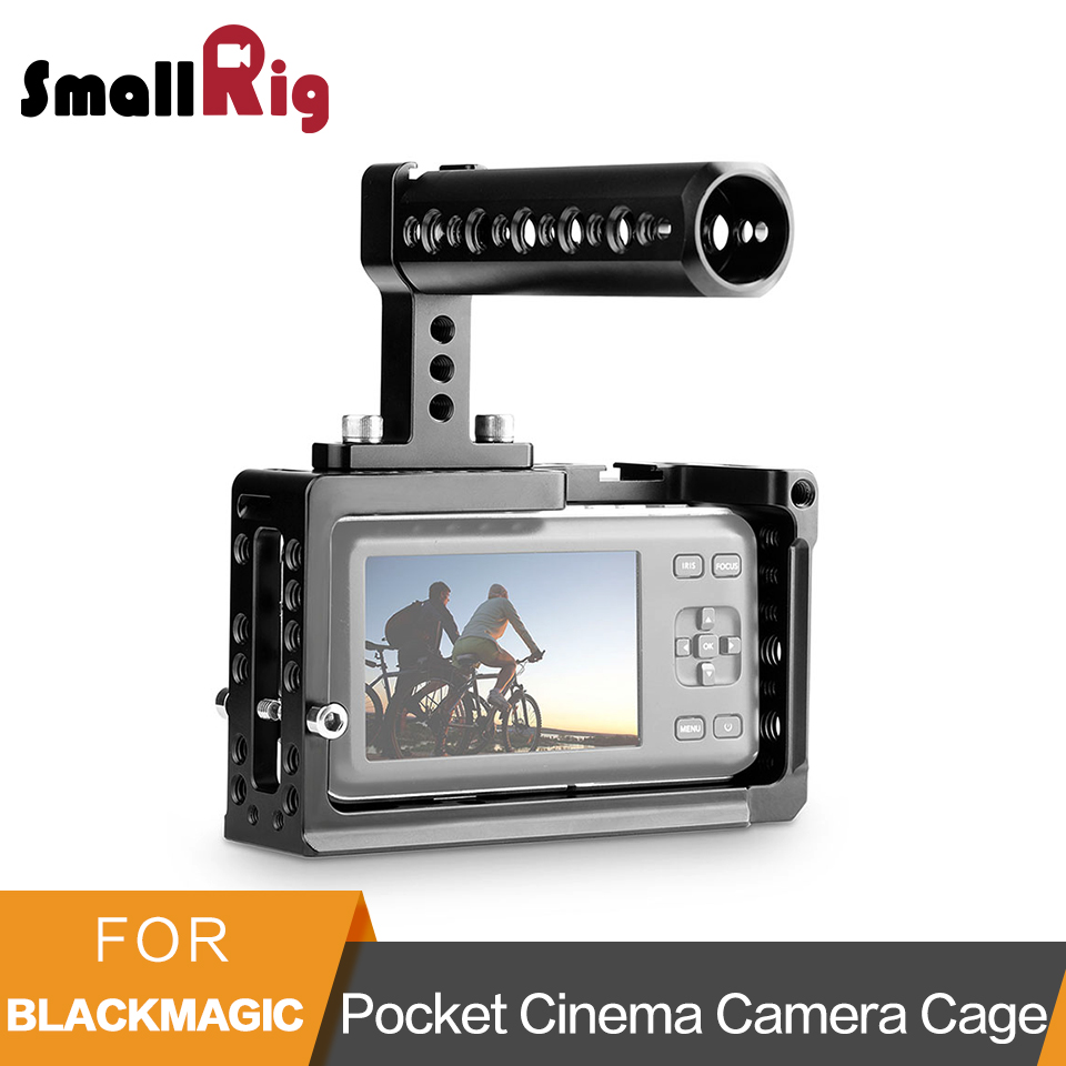 SmallRig Camera Cage Kit for BMPCC Blackmagic Pocket Cinema Camera Cage With Cheese Top Handle -1991 jtz dp30 cage baseplate rig top handle for bmpcc blackmagic pocket cinema camera page 6