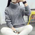 Autumn women turtleneck sweaters pullovers Casual long sleeve casual crop sweater slim solid knitted jumpers sweter mujer,WH0215