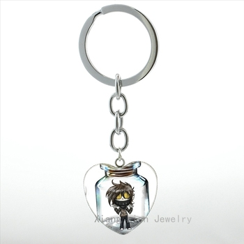 Creepypasta Creepy Pasta Ticci Toby keychain Hippie jeff and jane the killer charm Cute pink piglet McDull pig key chain HP357 locket