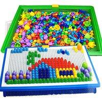 296 Champignon Ongle Intelligent 3D Puzzle Jeux BRICOLAGE Champignon Ongle En Plastique Flashboard Enfants Jouets Éducatifs Jouet couleur aléatoire
