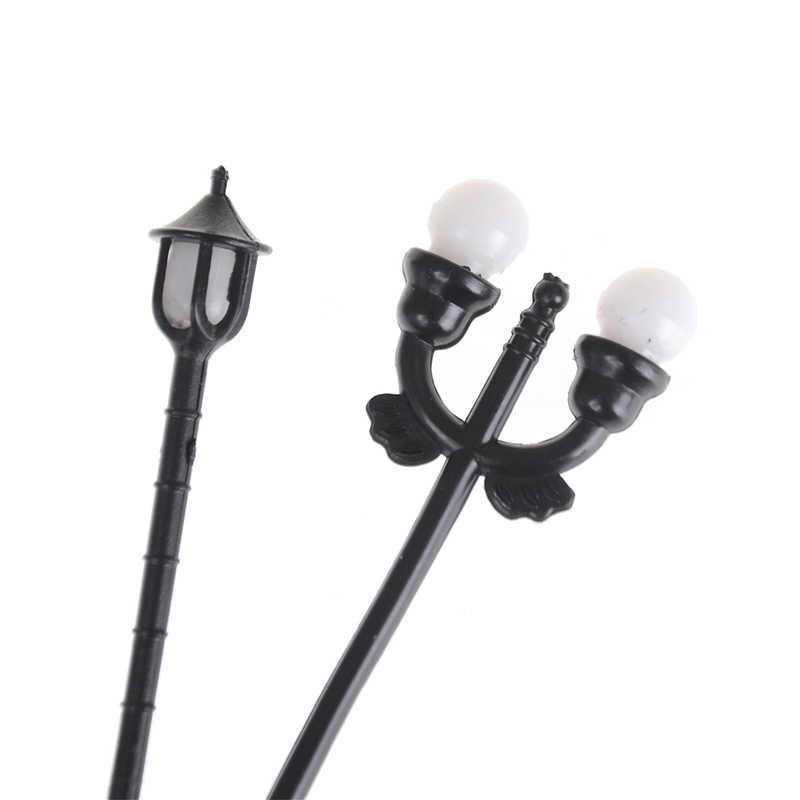 5 sztuk modelu lampy ogrodowe czarny Model układ pojedyncza głowa ogród światła latarnia światło krajobrazu modelu światła nowy