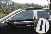 Aço inoxidável Janela Guarnição Pilar Acessórios Etiqueta Do Carro Apto Para Ford Explorer 2016 2017-Car styling 6 pcs
