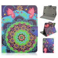 8 Inch High Quality Pretty Conch Flower Print Durable Universal Folio Folding PU Leather Cover Case