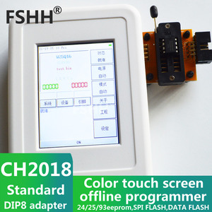 Image 3 - CH2018 Color screen offline programmer SPI programmer 24/25/93EEPROM DATA SPI FLASH