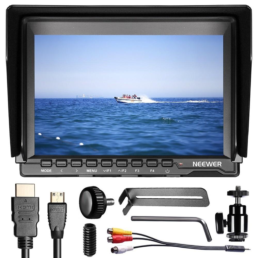Neewer 7 pollice Ultra HD 1280x800 IPS Dello Schermo Della Macchina Fotografica Monitor di Supporto 4 k di ingresso per Sony/ canon/Nikon/Olympus/Pentax