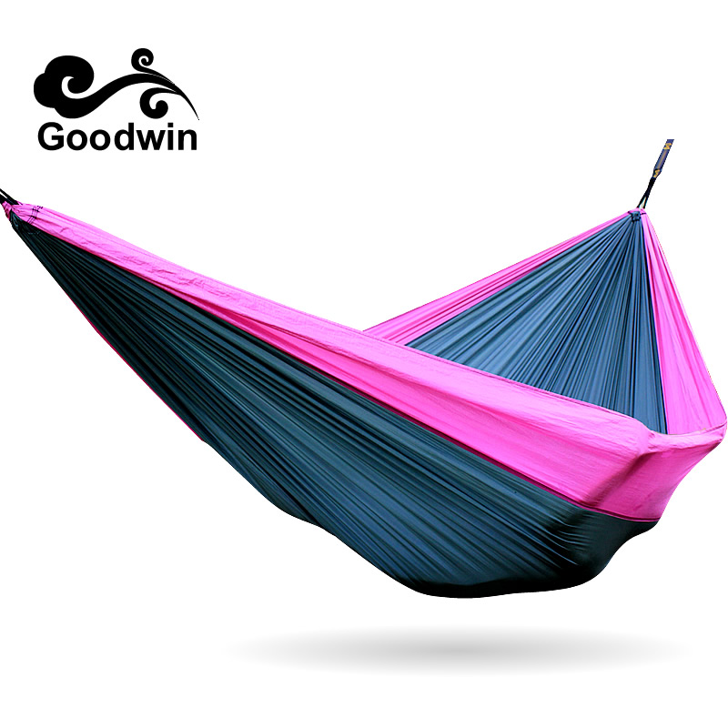2in1 3in1 Double Hammock Camping Survival Hammock Parachute Cloth Portable Double Person Hammock Outdoor Leisure 300*200cm 300kg 300 200cm 2 people hammock 2018 camping survival garden hunting leisure travel double person portable parachute hammocks