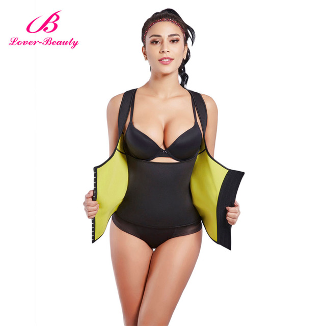 2253cd3fbac71 Lover Beauty Womens Shapewear Weight Loss Neoprene Sauna Sweat Waist  Trainer Corset Tank Top Vest Workout Slimming Body Shaper C
