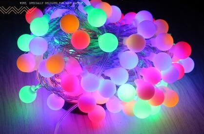 ФОТО A1 Flash Christmas Wedding bar area stage decoration lamp string LED waterproof outdoor lights spherical lamp Beads