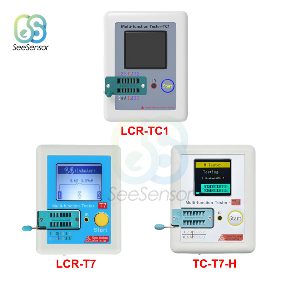 LCR-TC1 LCR-T7 TC-T7-H T7 Multifunctional TFT Backlight Transistor Tester For Diode Triode Capacitor Resistor Transistor