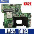K42F Rev 2 0 GMA HD USB2.0 HM55 PGA989 DDR3 video memory main board für Asus K42F Motherboard P42F 100% voll getestet