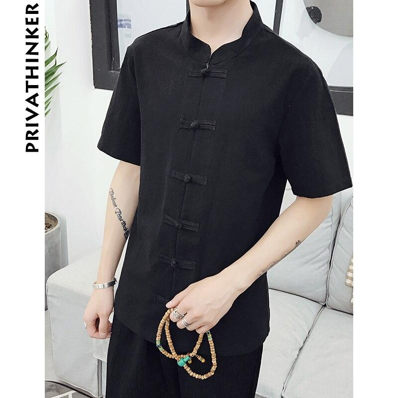4e529418b8 Sinicism Sklep Mężczyźni Odzież Koszule Męskie Regular Fit Pościel Krótkie  Rękawy Mężczyzna Chiński Styl na Co Dzień Letnie Koszule Plus Rozmiar 2018  w ...