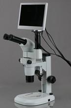 AmScope –8X-80X Common Main Objective CMO Trinocular Zoom Stereo Microscope with 1920×1080 HDMI Camera & 11.5″ HD Monitor