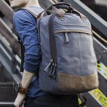 New Fashion Men's Backpack Vintage Canvas Backpack School Bag Men's Travel Bags Large Capacity Travel Laptop Backpack Bag