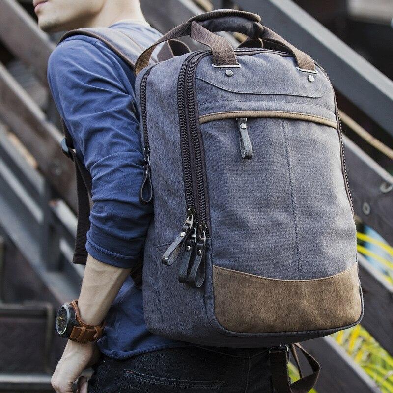 Nouveau sac à dos Vintage pour hommes sac à dos en toile sac d'école sacs de voyage pour hommes sac à dos de voyage pour ordinateur portable de grande capacité