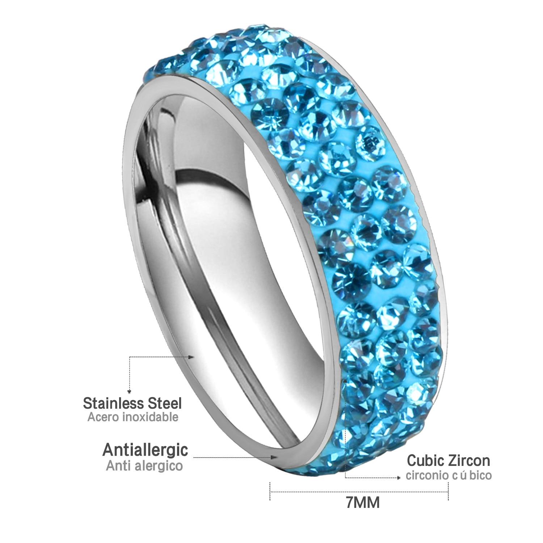 Luxury Vintage Wedding Rings For Women Stainless Steel 3 Row