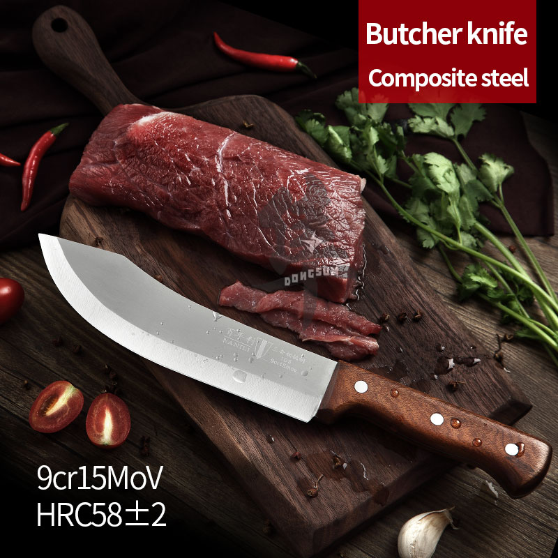 3 слоя композитная сталь убой резьба обвалка нарезки ножей утилита ножи нарезки фруктов нож Кливер