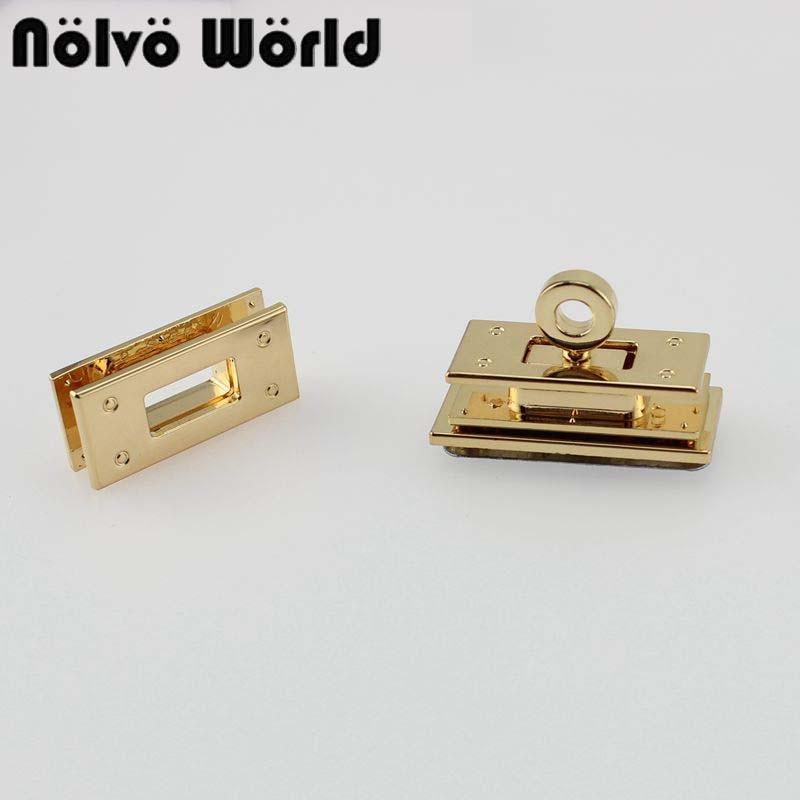 10 Pieces Gold Twist Turn Lock Bag Lock Combination Clasp Lock Diy Luggage Handbag Hardware Accessories