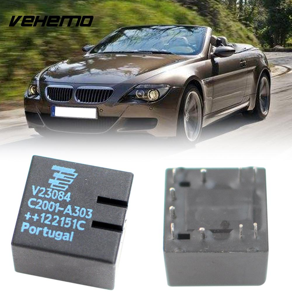 цена на Vehemo 2pcs Parts Replacement Original V23084-C2001-A303 A4 Automotive Contact E46 3-Series Car Relay For MBW GM5