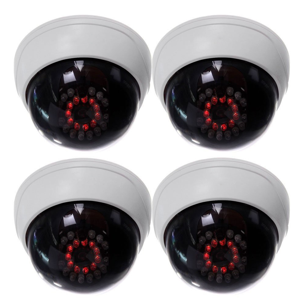 MOOL 4 in1 Indoor CCTV Fake Dummy Dome Security Camera with IR LEDs White wavelets in geophysics 4