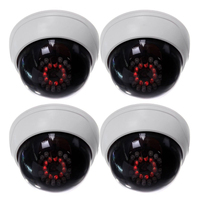 MOOL 4 In1 Indoor CCTV Fake Dummy Dome Security Camera With IR LEDs White
