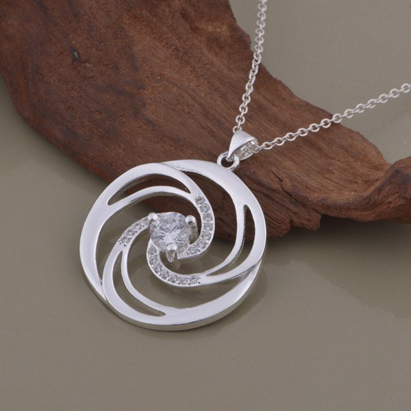 wholesale High quality silver Fashion jewelry chains necklace pendant WN-1378