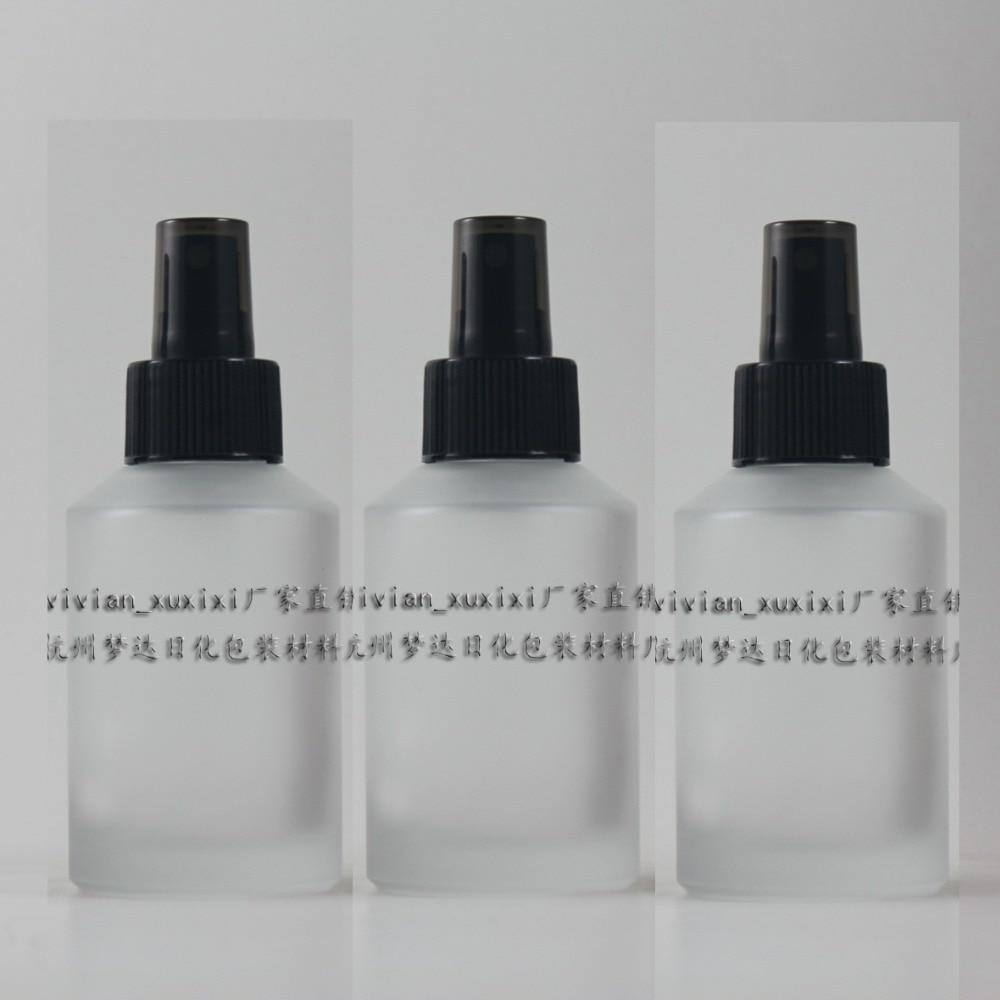 125ml okrogla prozorna zamrznjena steklenička za parfume z večkratno polnjenje s črno meglo, stekleni sprej 125 ml posoda za parfum zmrzal