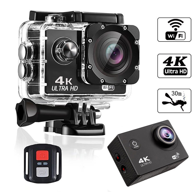 Action Camera 4K HD Sports Camera Slow Outdoor Diving Waterproof Mountain WiFi Dog Car Accessories Interior